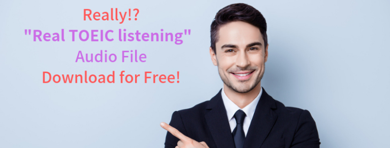 Awsome!! Real TOEIC listening audio published for free!